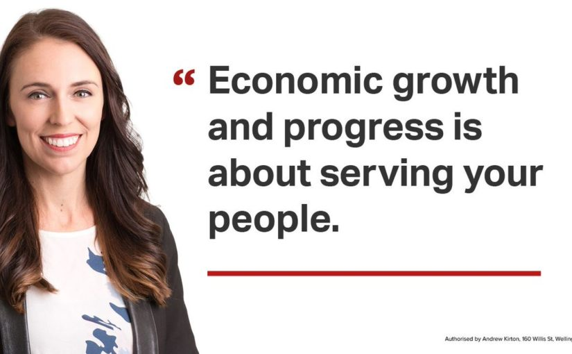 """Economic growth and progress is about serving your people."" - Jacinda Ardern"